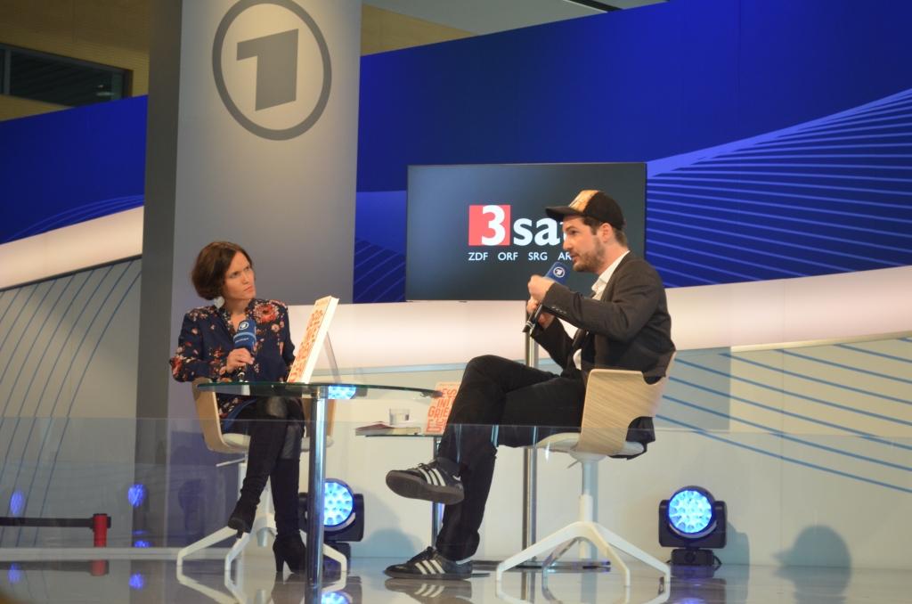 Max Czolleck auf der FBM-Bühne der ARD.